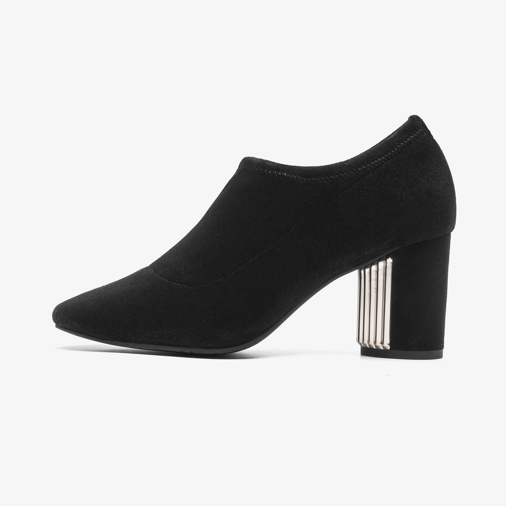 Block-heeled Ankle Boots  - Black 9T79801BKS