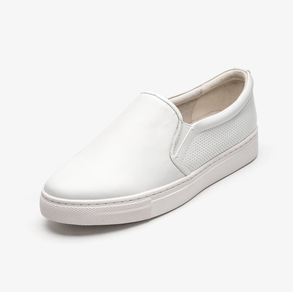 Leather Slip-on Sneakers - White 1T22554WTL