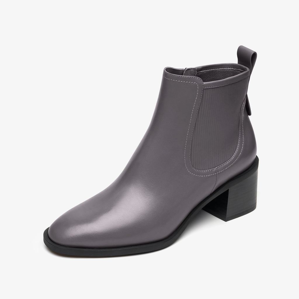 Classic Leather Ankle Boots - Grey AT58802GYL