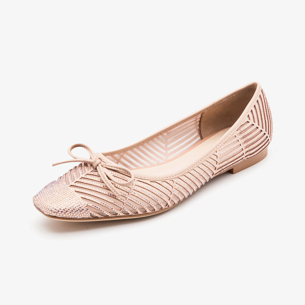 Square Toe Flat shoes - Pink 1M01201 PNU