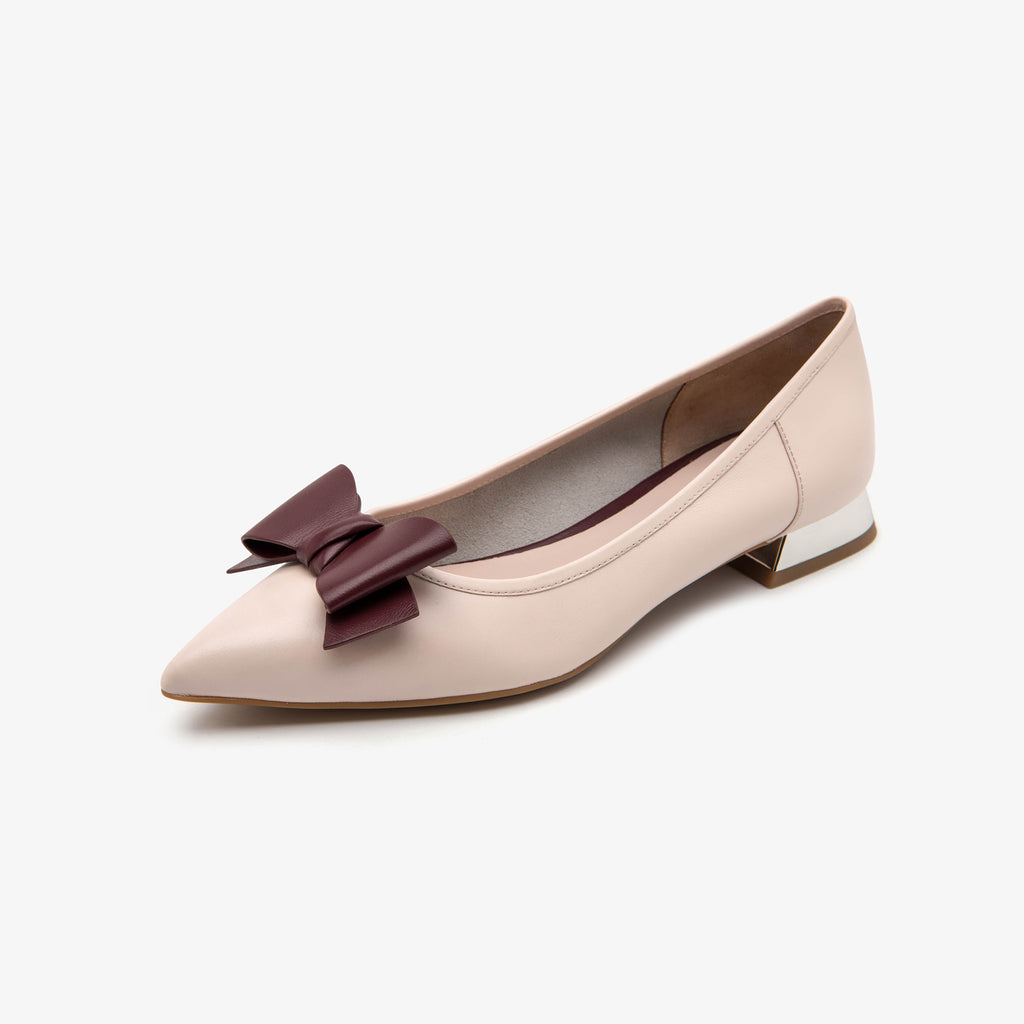 Ballet Flats with Bow Detail - Beige 1M13041 BEL