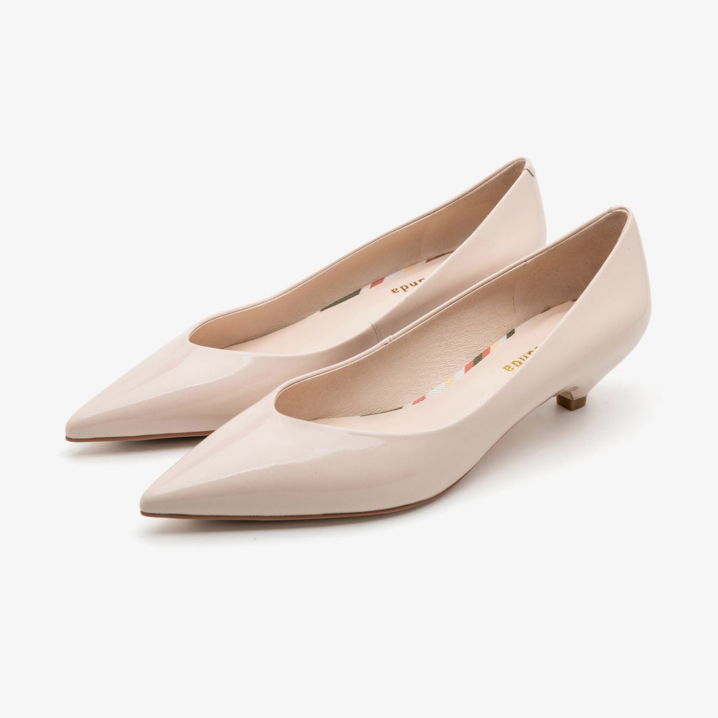 Point-toe Kitten Heels - Beige 1M32101-BEP