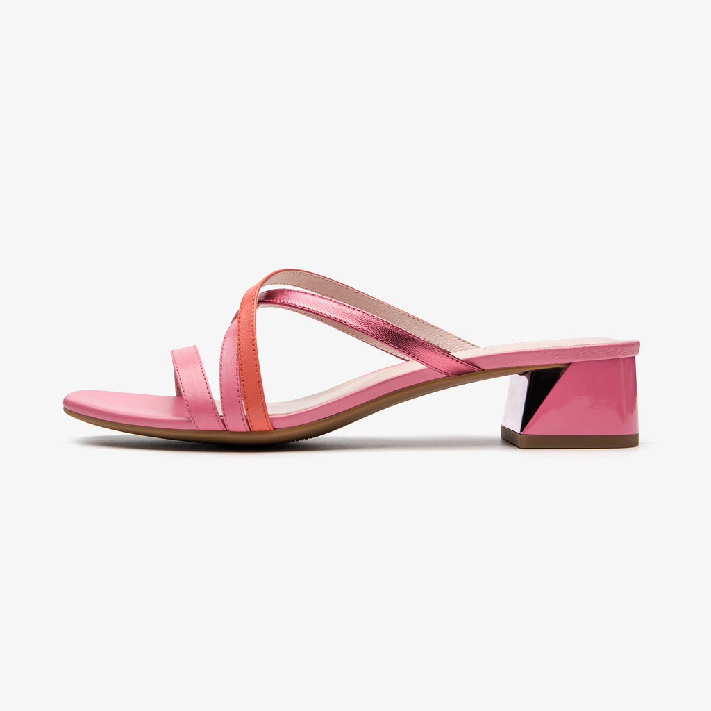 Leather Slip-on Sandals - Pink 1M33903 PNK