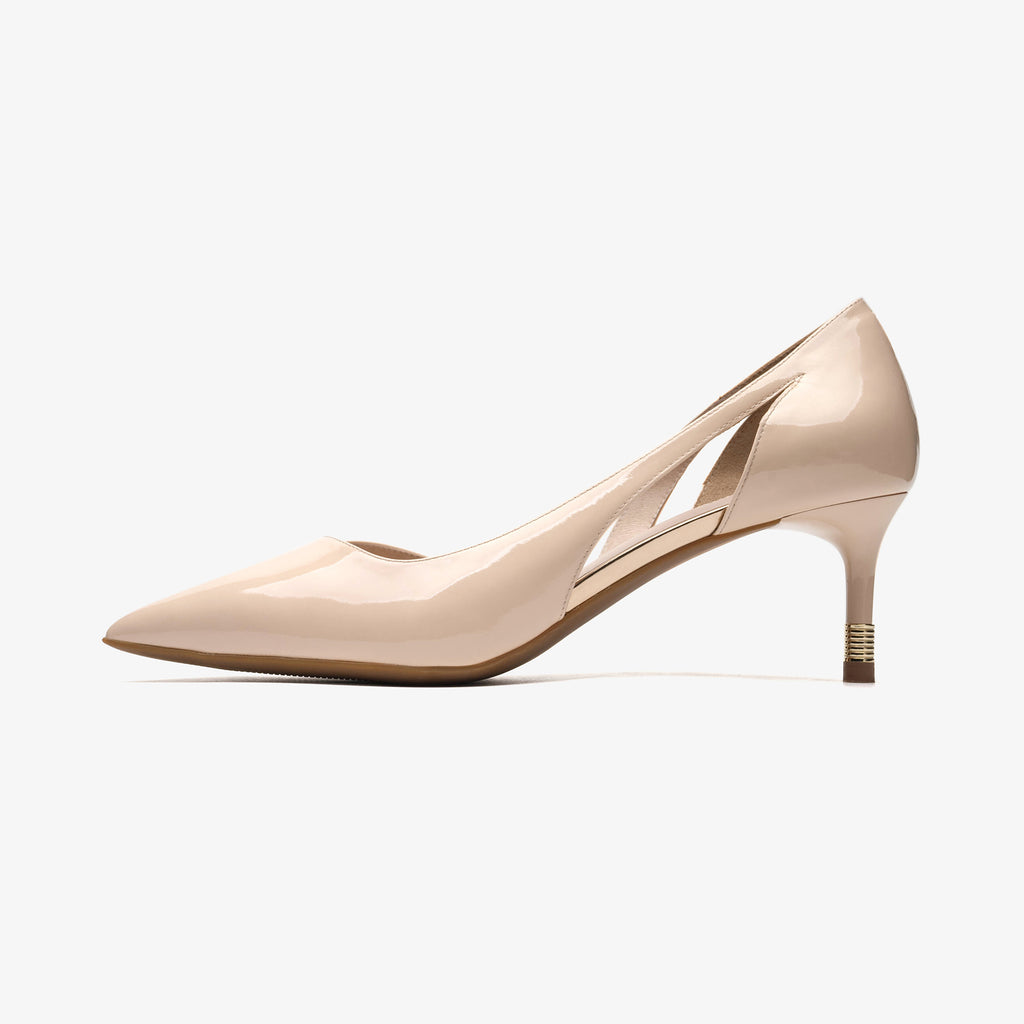Leather Pointed-toe Pumps - Beige 1M54117 BEP