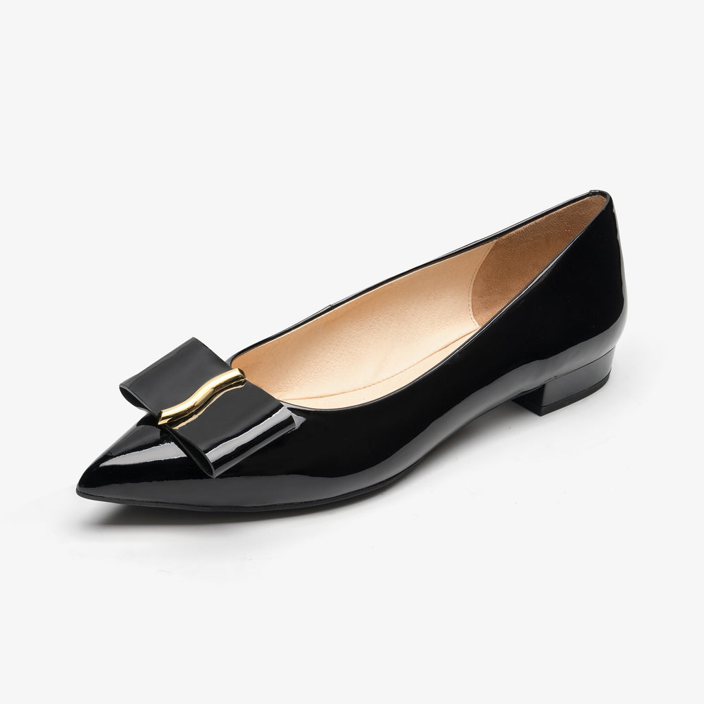 Flat Shoes with Bow detail - Black AM11501 BKP