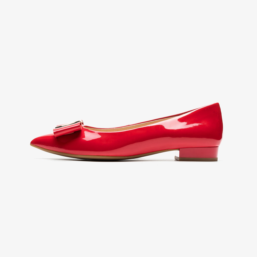【Mother's Day】Flat Shoes with Bow detail - RED AM11501 RDP