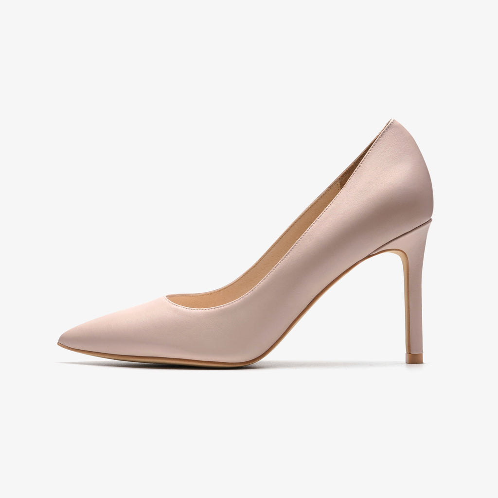 Classic Leather Pumps - Beige AM94415-BEK