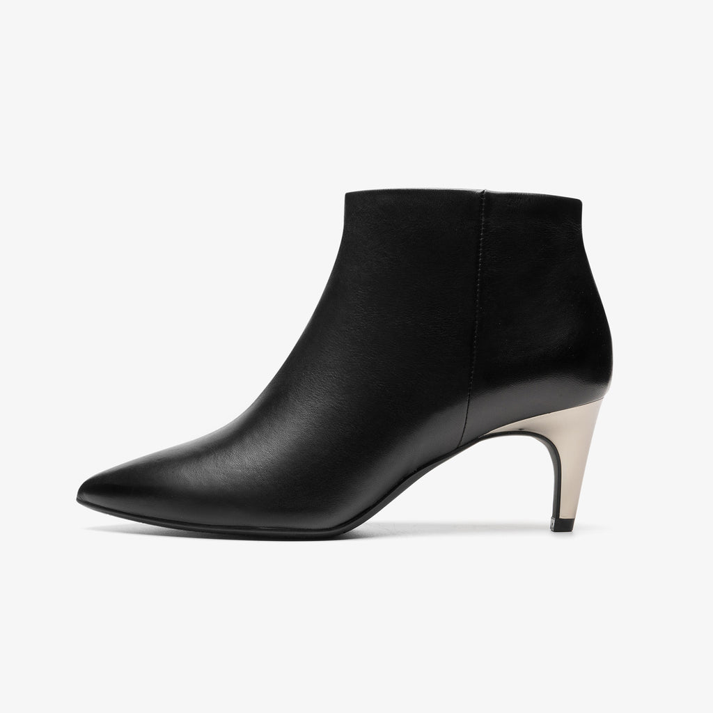 Leather Heeled Ankle Boots - Black saunda8T56454BKL
