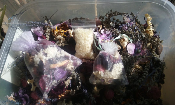 SACHET BAGS - AROMATHERAPY - Organic Botanicals with Essential Oils for the Holidays & Everyday!