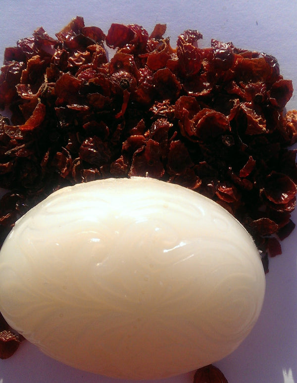 Rose Hip Seed Oil Soap - Vitamin A & C rich Organic Rose Hip Seed oil for Damaged Skin! 4oz bar