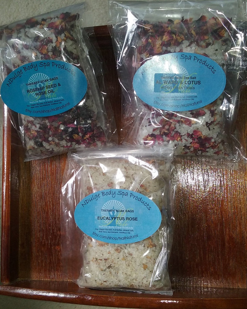 THERAPY SOAK BAGS - HEALING the Natural way with Nature's Botanicals and Mineral Salts!