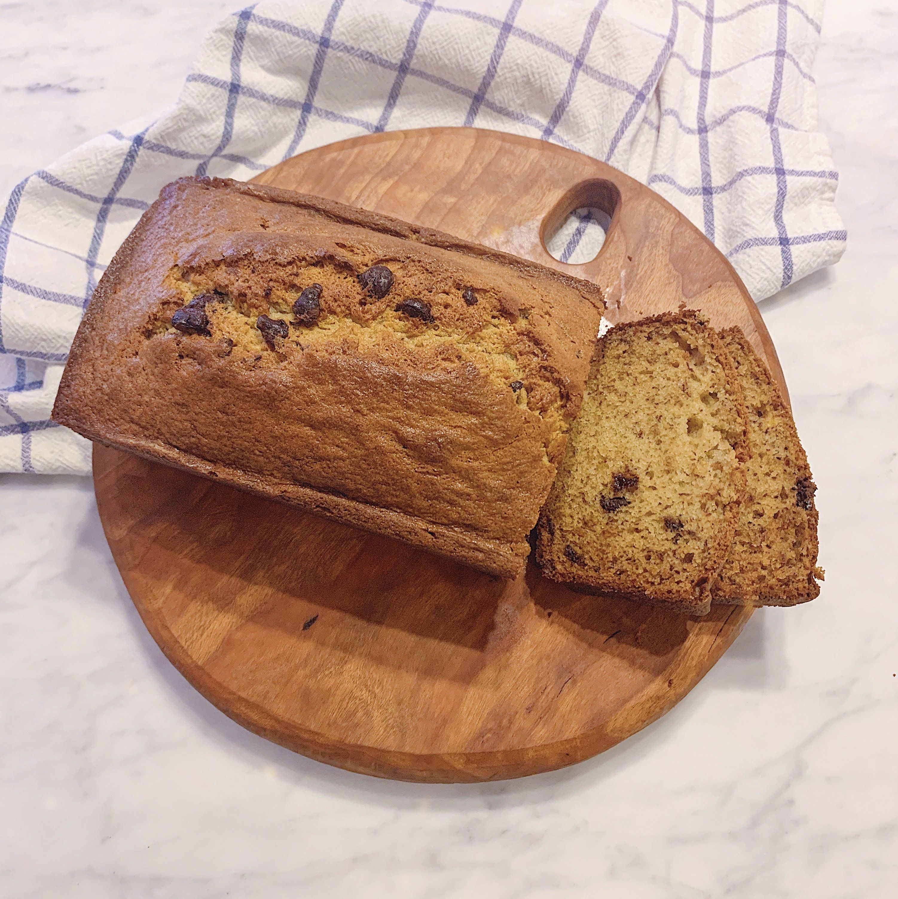 Grandma Julie's easy, delicious Banana Bread Recipe with chocolate chips