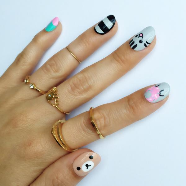 Nail Art & Dainty Rings