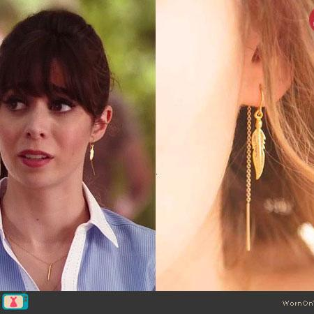 Light as a Feather Earrings on NBC's 'A to Z'