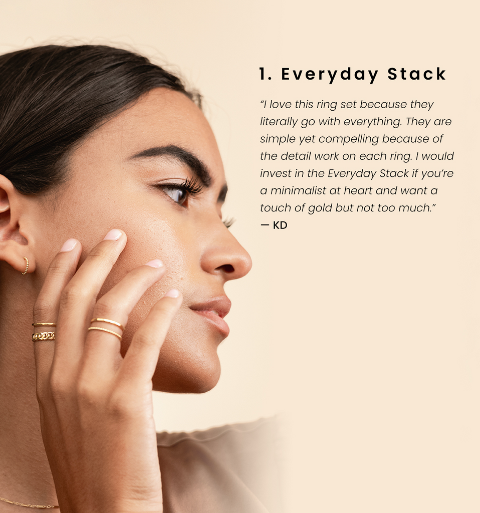 Everyday Ring Stack by Katie Dean Jewelry