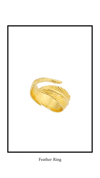 Katie Dean Jewelry Feather Ring