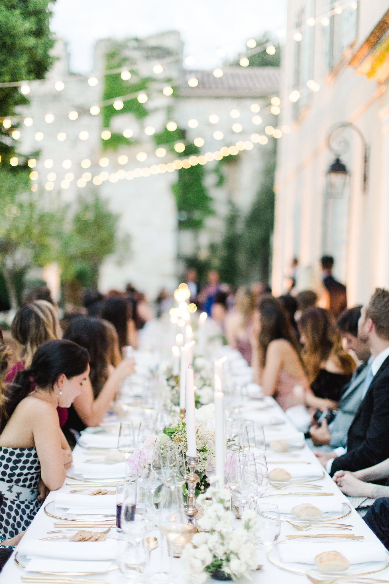 Wedding table, Katie Dean Jewelry romantic destination wedding at a chateau, Provence, France