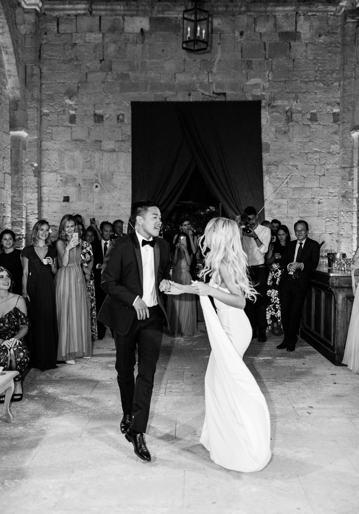 Katie Dean + Jon Tam Destination wedding, Provence, France Wedding, first dance