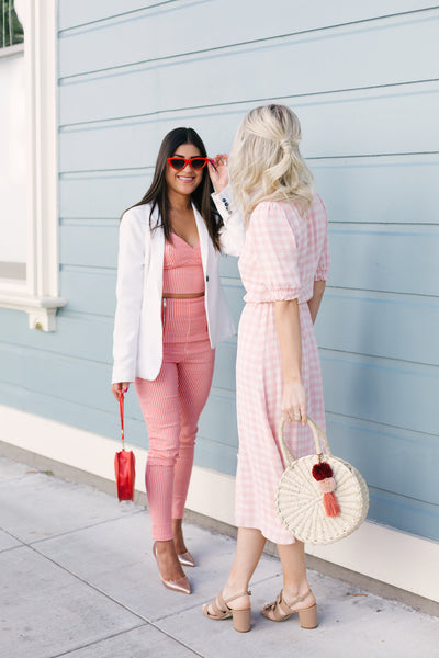 Katie Dean, founder of Katie Dean Jewelry, and Kelsey Kaplan, fashion blogger in san francisco.