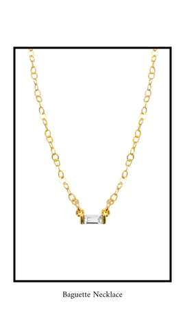 Katie Dean Jewelry Baguette Necklace