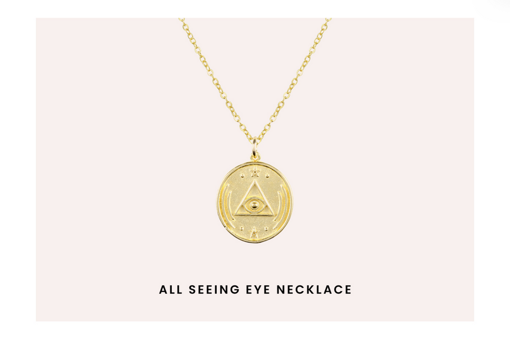 All Seeing Eye Necklace by Katie Dean Jewelry
