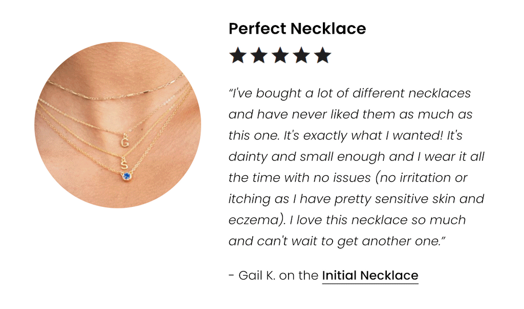 5-Star Customer review of the Initial Necklace by Katie Dean Jewelry