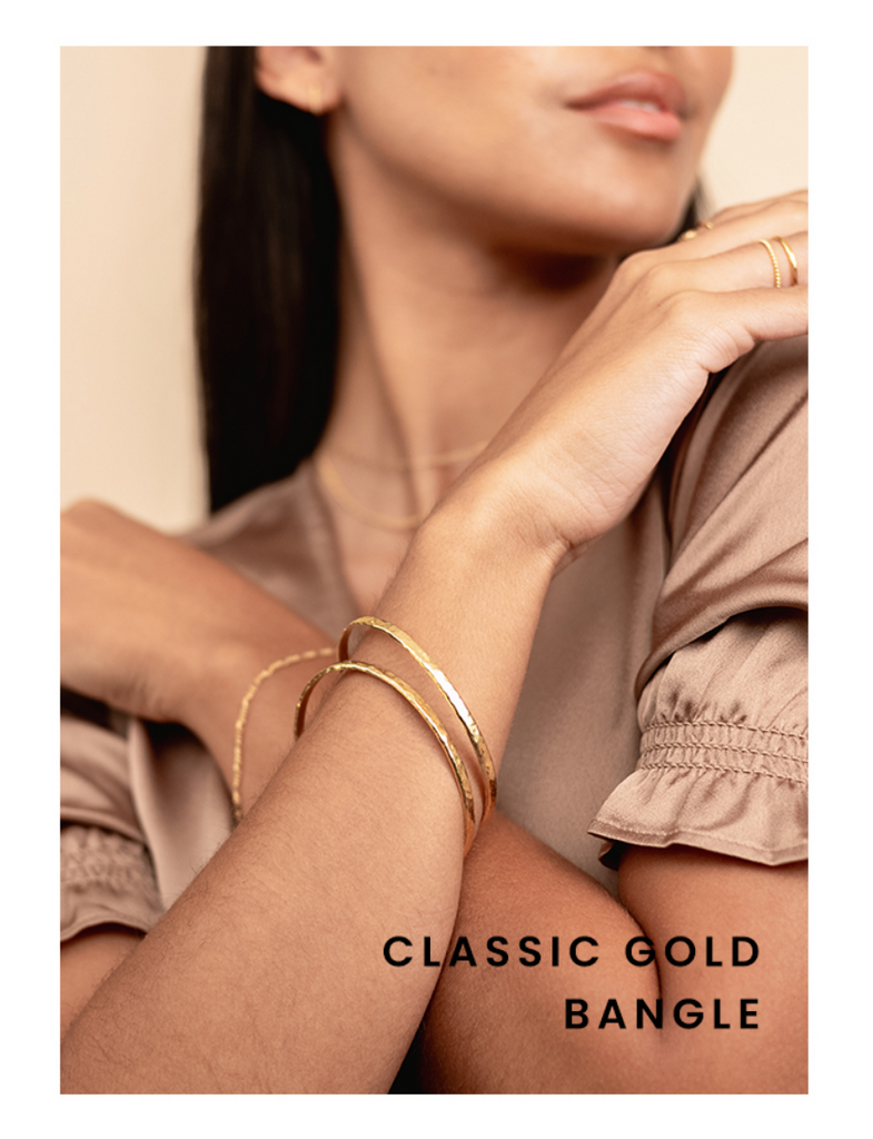 Classic Gold Bangle by Katie Dean Jewelry