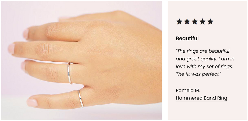 Five Star Customer Review, Hammered Band Ring Katie Dean Jewelry