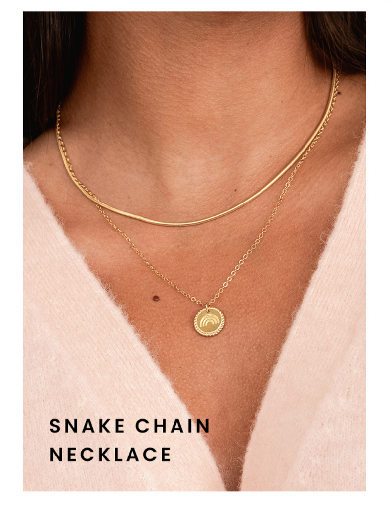 Snake Chain Necklace by Katie Dean Jewelry