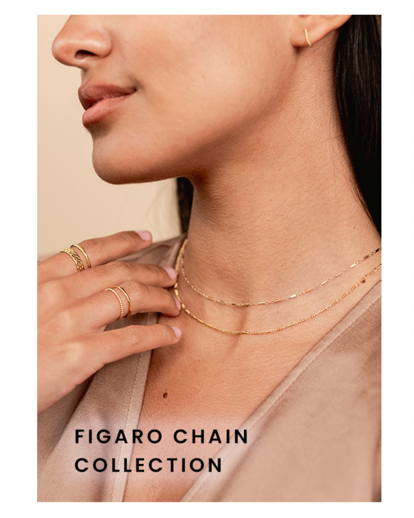 Figaro Chain Collection by Katie Dean Jewelry