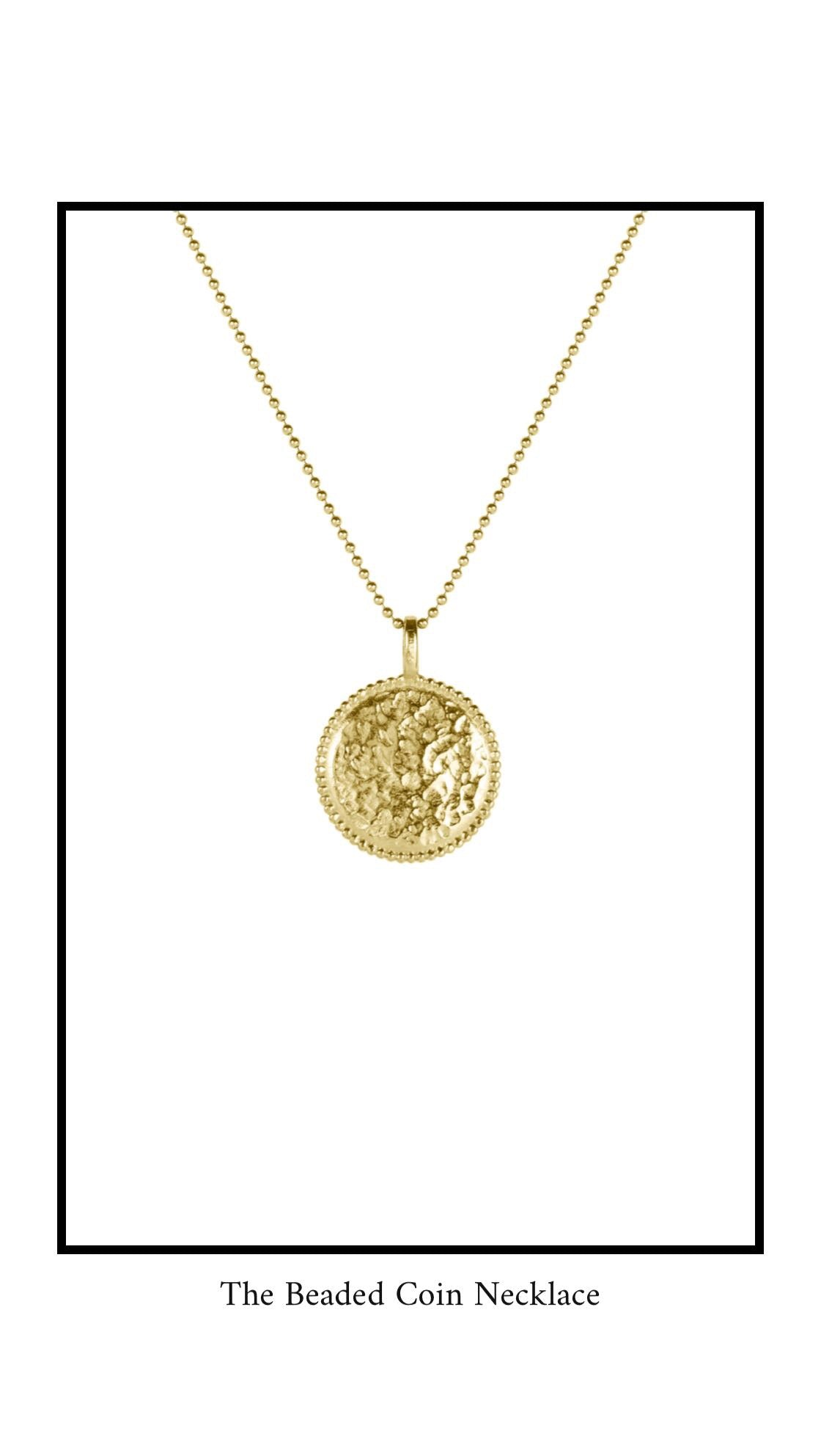 The Beaded Coin Necklace, Katie Dean Jewelry