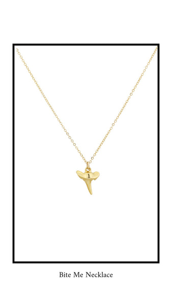 Gold Sharks Tooth Necklace by Katie Dean Jewelry