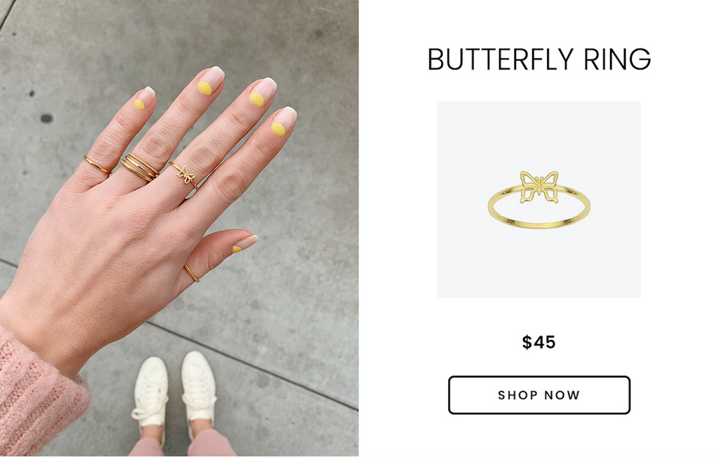 Butterfly Ring, Katie Dean Jewelry, handmade in the USA