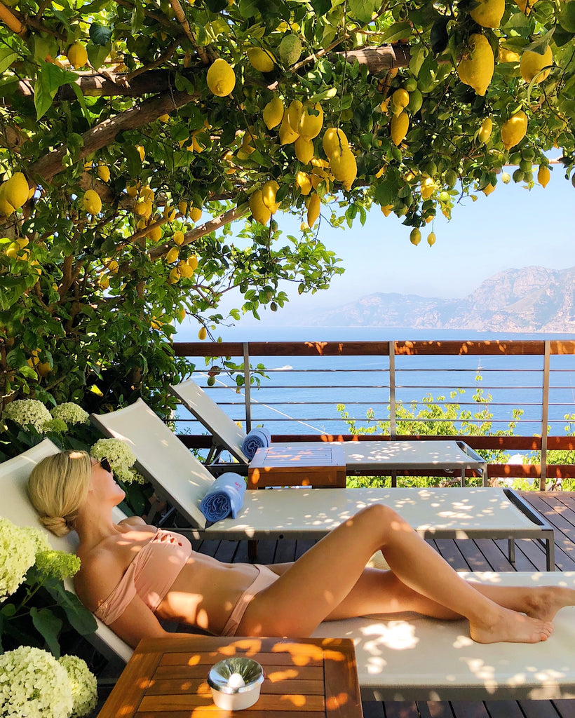 Katie Dean Casa Angelina, under the lemon tree, Amalfi Coast, Italy Praiano