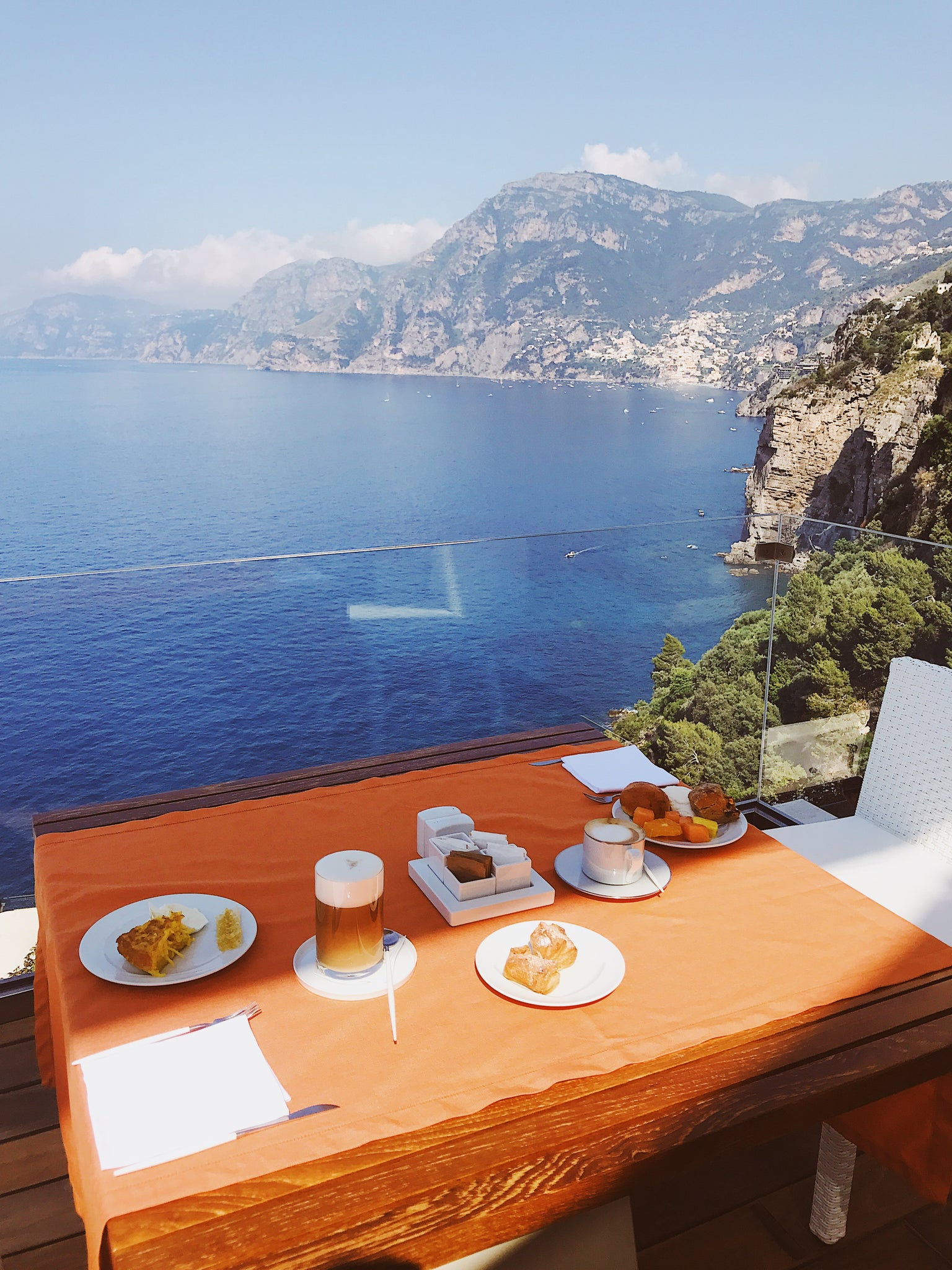 Casa Angelina breakfast view, Amalfi Coast, Praiano, Italy