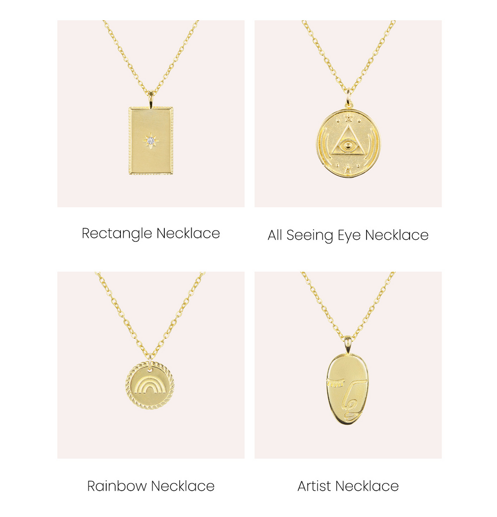 Dainty gold necklaces perfect for layering, handmade in America by Katie Dean Jewelry