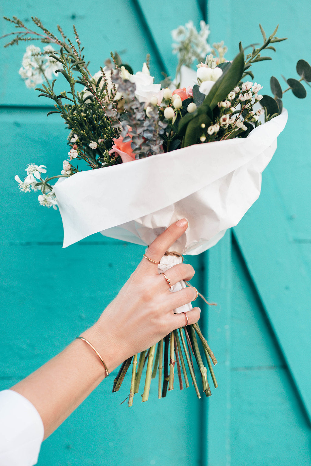 Katie Dean Jewelry, dainty rings, Flower bouquet
