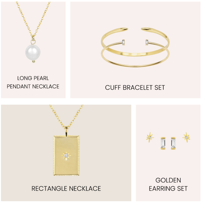 The best golden bridesmaid gifts for your I DO CREW! Handmade in America by Katie Dean Jewelry