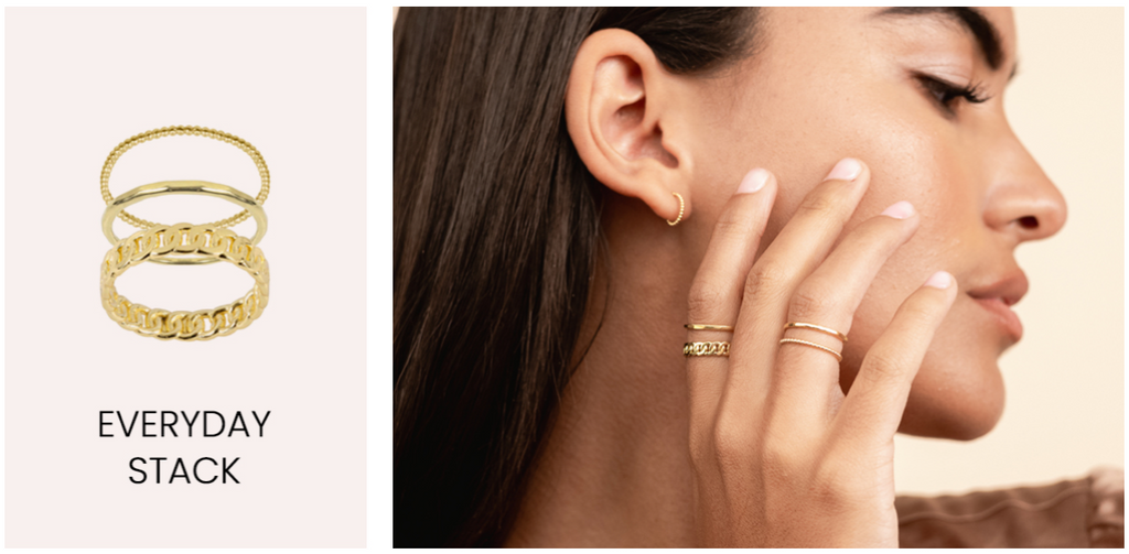 Everyday Ring Stack, dainty gold rings by Katie Dean Jewelry