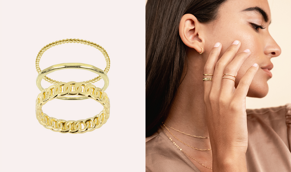 Everyday Ring Stack, handmade in America by Katie Dean Jewelry