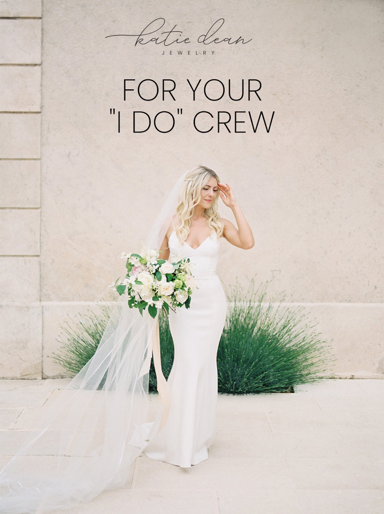 The best golden bridesmaid gifts by Katie Dean Jewelry
