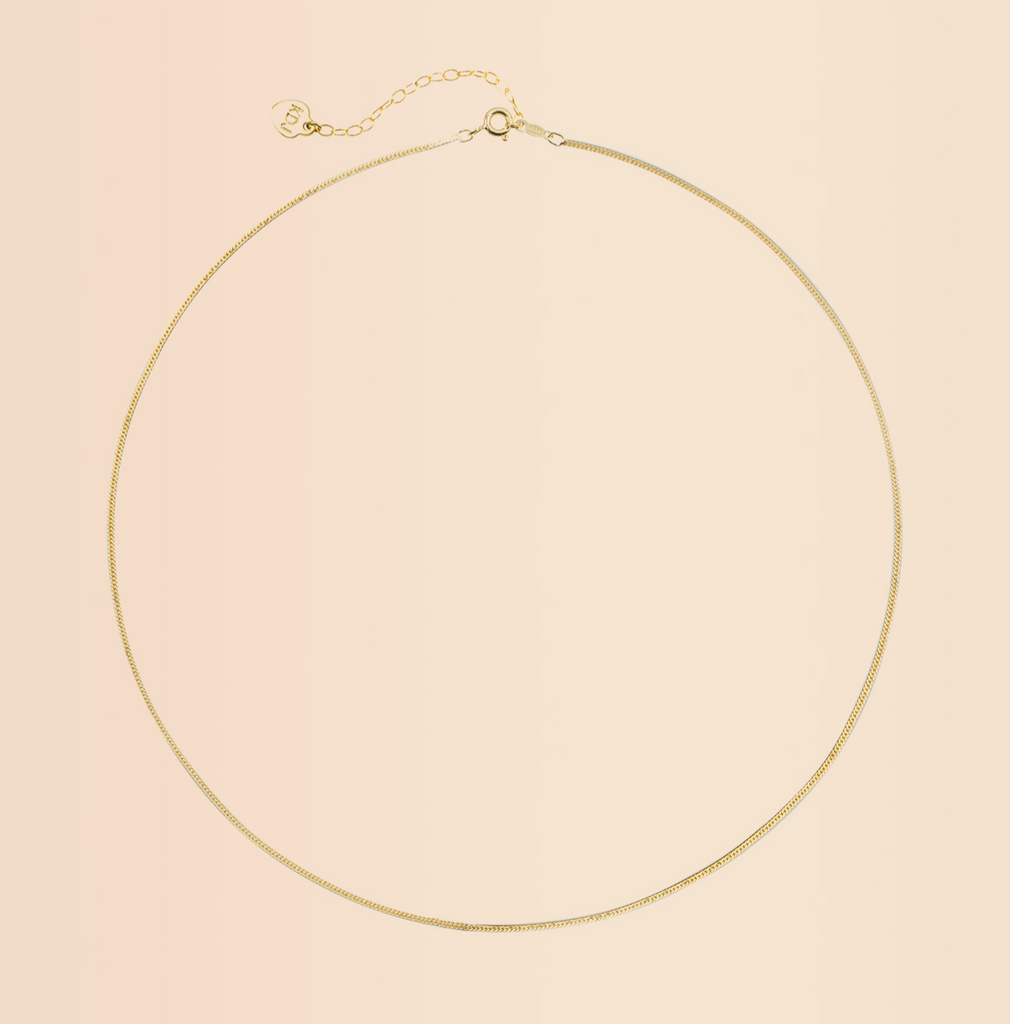 Herringbone Chain Necklace, gold filled 18 inches, Katie Dean Jewelry