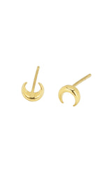 Moon stud earrings, katie dean jewelry