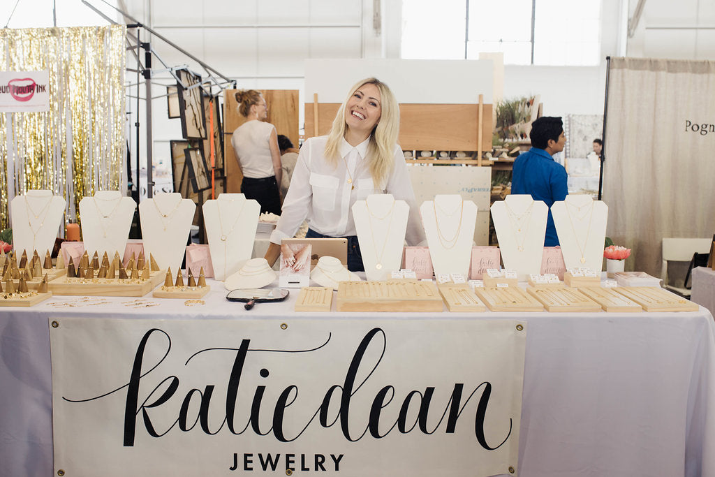 Katie Dean at Renegade Craft Fair, San Francisco, Katie Dean Jewelry, dainty handmade jewelry