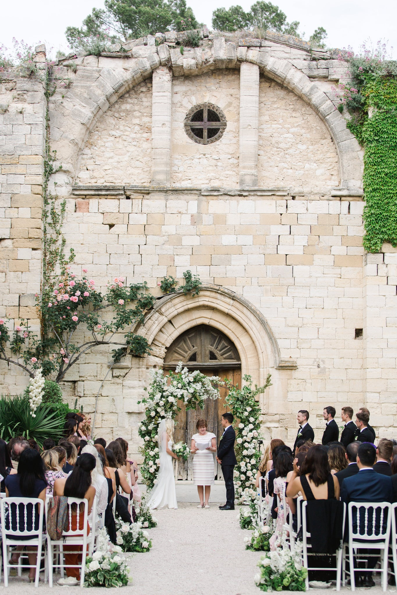 Katie Dean + Jon Tam Destination wedding, Provence, France Wedding, ceremony location