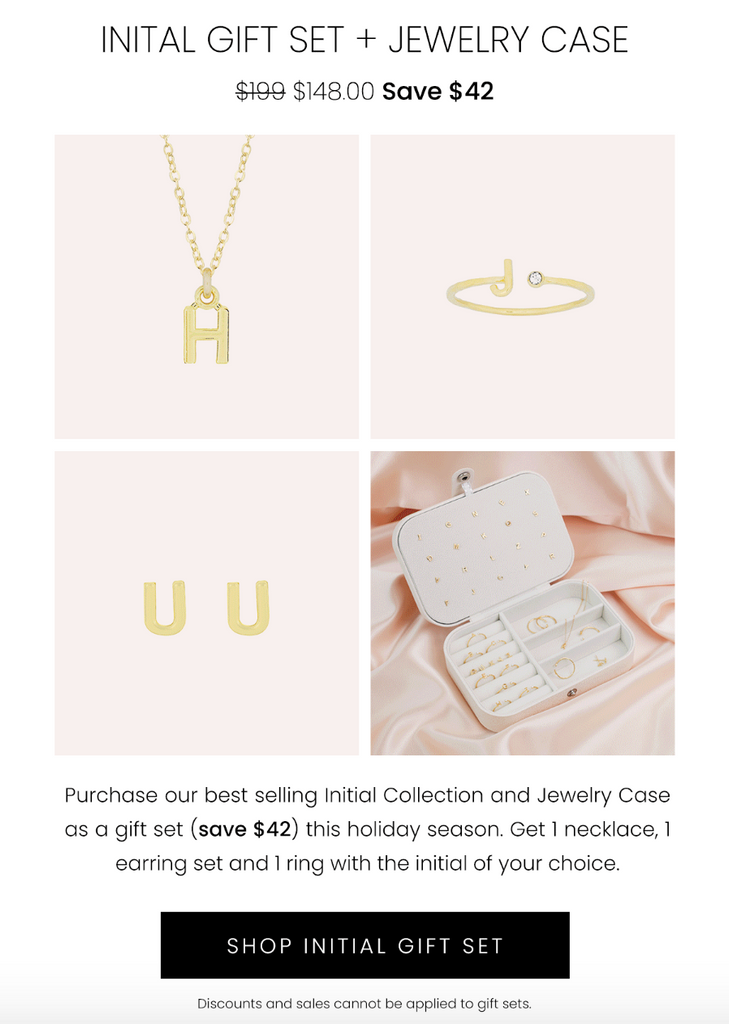 Initial Gift Set by Katie Dean Jewelry, handmade in America