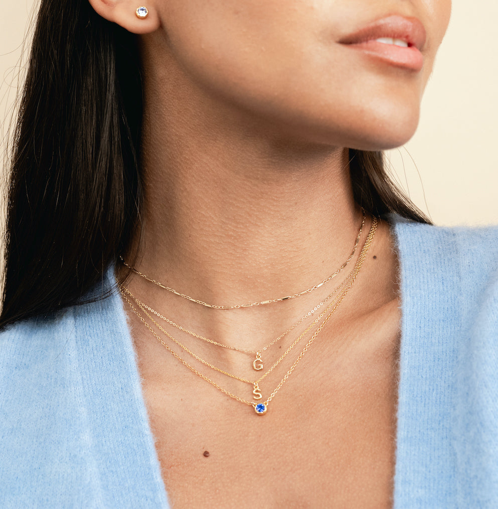 September Birthstone Sapphire, collection handmade in America by Katie Dean Jewelry