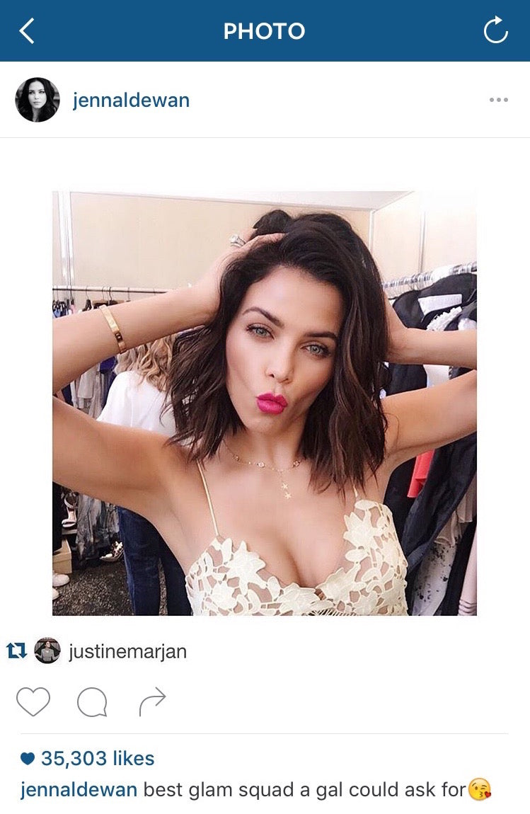Jenna Dewan Instagram photo, Katie Dean Jewelry, Star Crossed Lover's Necklace