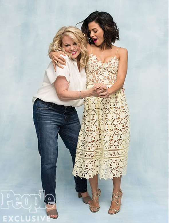 Jenna Dewan with Mom, People Magazine