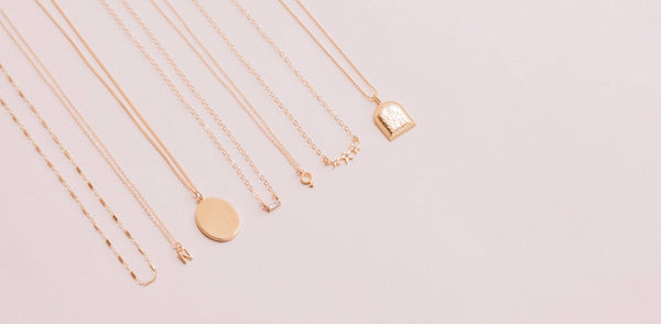 Dainty, minimal necklaces perfect for layering. Handmade in California.